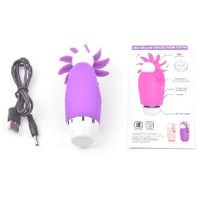 12 Functions Purple Color Silicone Rechargeable Oral Sex Simulator