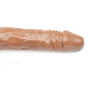 8.3 Inches Brown Color Realistic Dildo with Balls