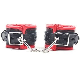 Red and Black Hi Quality Handcuffs